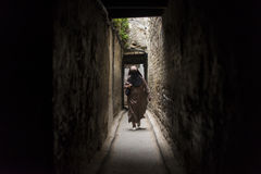 FES, MOROCCO, April 15: people walking on street of Fes, Morocco Royalty Free Stock Image