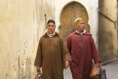 FES, MOROCCO, April 19 people walking on street of Fes, Morocco, Stock Photo
