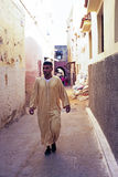 FES, MOROCCO - 15 OCTOBER 2013: Man is dressed up for Eid Al-Adh Stock Photo