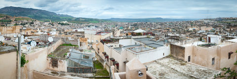 Fes in Morocco panoramic view skyline panorama Stock Photo