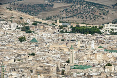 Fes old city with town wall - Morocco Royalty Free Stock Photo