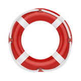 Fesaver, lifebelt, lifebuoy with rope  on white Stock Image