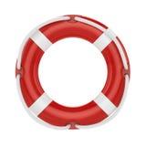 Fesaver, lifebelt, lifebuoy with rope  on white Stock Image