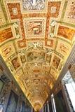 Fescos hermosos del techo del museo del Vaticano Foto de archivo