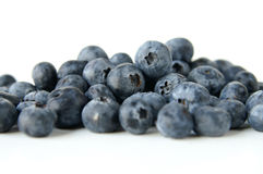 Fesh blueberries. A close up of blueberries with a shallow depth of field royalty free stock photo