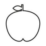 Fesh fruit  apple  isolated icon design. Illustration  graphic Royalty Free Stock Photos