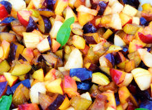 Fresh fruit salad background  Royalty Free Stock Images