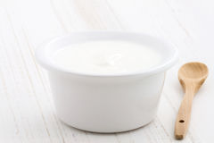Fesh greek yogurt Stock Image