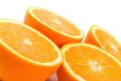 Fesh Oranges Halves Stock Photo