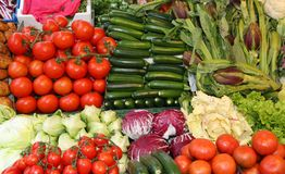 Fesh vegetables for sale. At italian market stock images