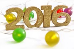 Fesive nieuw jaar 2016 Stock Foto