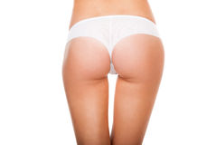 Fesses dans culottes blanches Image libre de droits