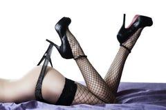 Fesses et pattes femelles sexy Image stock