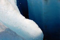 Fessura del ghiacciaio Fotografie Stock Libere da Diritti