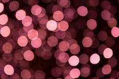 Festão borrada Bokeh do borrão da luz da noite da cidade, fundo defocused Sumário do Natal fotos de stock