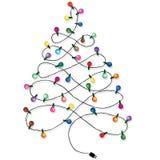 Festão da árvore de Natal Fotos de Stock Royalty Free
