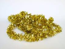 Festão da corda do ouropel do ouro Imagens de Stock Royalty Free