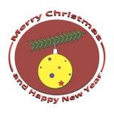 Festão da imagem no Natal e no ano novo Fotografia de Stock Royalty Free