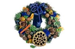 Festão da porta do Natal imagens de stock royalty free