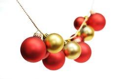 Festão das esferas do Natal foto de stock