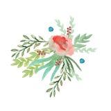 Festão das flores watercolor Foto de Stock