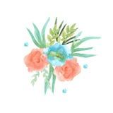 Festão das flores watercolor Fotografia de Stock