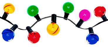 Festão de luzes coloridas Foto de Stock