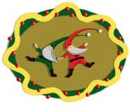 Festão de Santa da dança Fotos de Stock Royalty Free