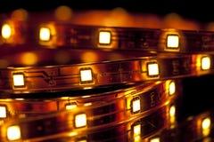 Festão do diodo emissor de luz Fotografia de Stock