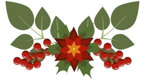 Festão do feriado do divisor do quadro da decoração do ramo de árvore do Natal ilustração do vetor