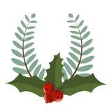 Festão do feriado do divisor do quadro da decoração do ramo de árvore do Natal ilustração stock