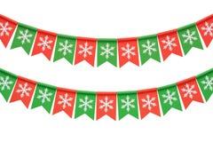 Festão do Natal isolada no fundo branco Imagem de Stock Royalty Free