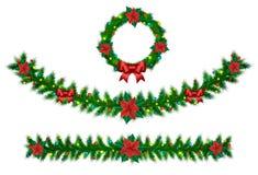 Festão do vetor do Natal ilustração royalty free