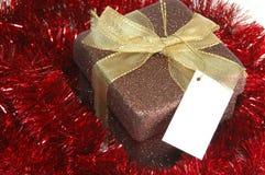 Festão do whit do presente de Natal foto de stock royalty free