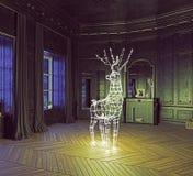 A festão dos cervos Imagem de Stock