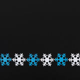 Festão dos flocos de neve Foto de Stock