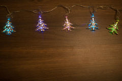 Festão morna do ouro do Natal Fotografia de Stock