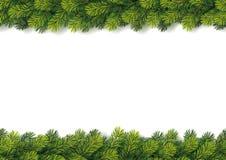Festão sem emenda detalhada do Natal Imagem de Stock Royalty Free