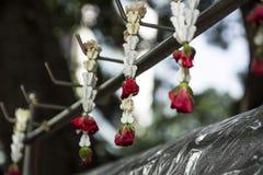 Festão tailandesa da flor fotografia de stock