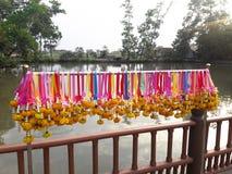 Festão tailandesa da flor com jasmim & cravo-de-defunto como o sinal do respeito & da honra fotografia de stock