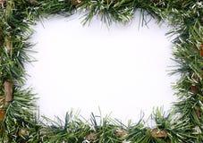 Festão verde do Natal do ouropel fotografia de stock royalty free