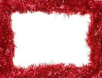 Festão vermelha do Natal, frame retangular Fotografia de Stock Royalty Free