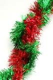 Festão vermelha e verde - canto ao canto Fotografia de Stock Royalty Free