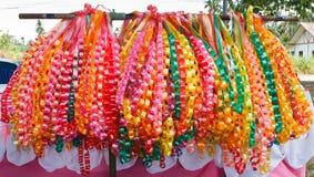 Festões Chain, feitas fita do ââof. Fotografia de Stock