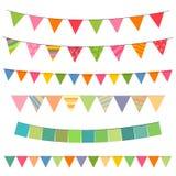 Festões coloridas Fotos de Stock