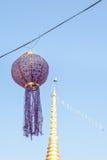 Festões da decoração da bola da tela Imagens de Stock