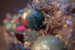 Festões efervescentes com prata e ouro Imagem de Stock Royalty Free
