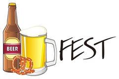 Fest avec la boisson et la nourriture Images stock
