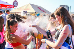 Fest de Holi à Poltava Photo stock