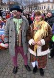 Fest de Malanka del festival de la Navidad Fotografía de archivo